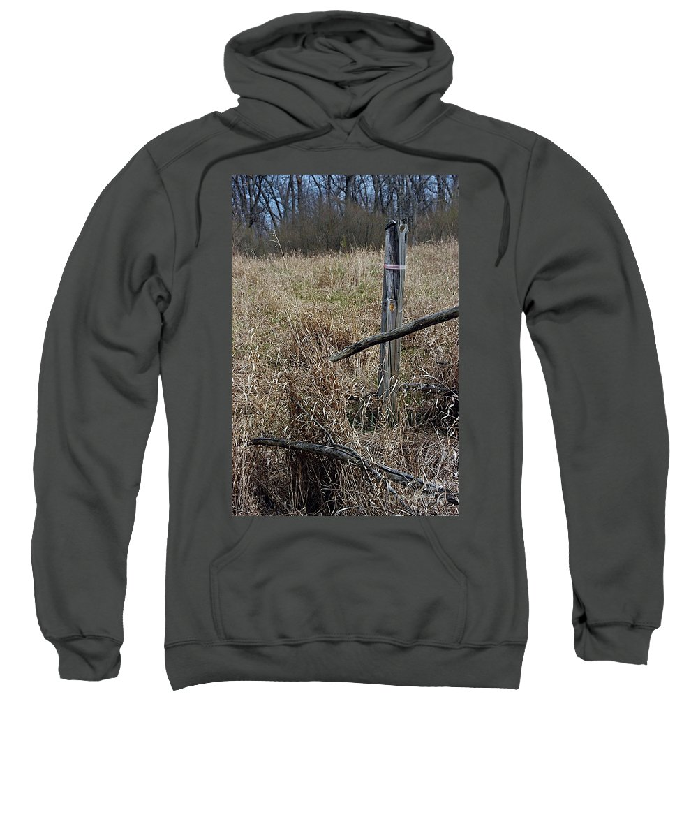 Fence Post Sweatshirt featuring the photograph Pasture by Joseph Yarbrough