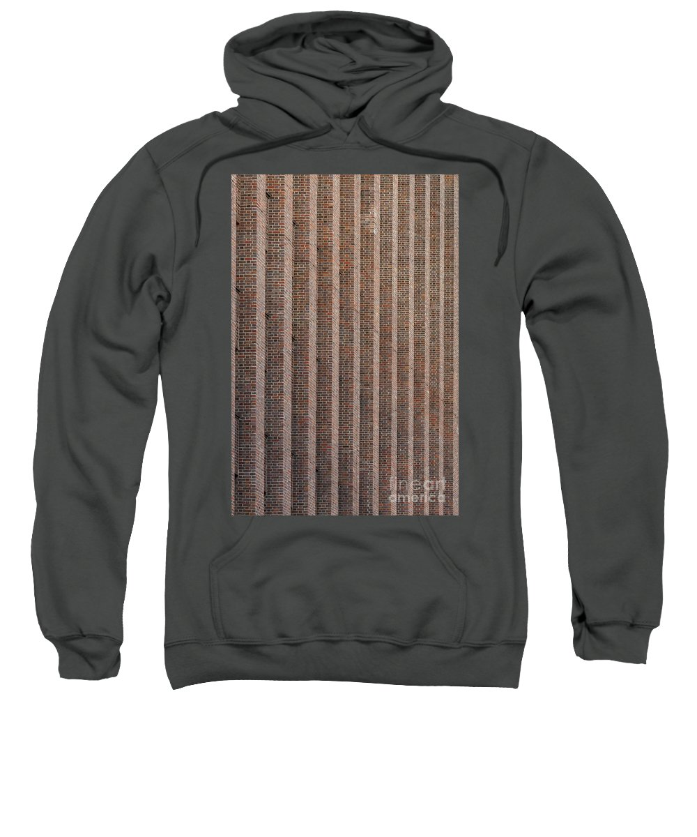 Abstract Sweatshirt featuring the photograph Patterend Brick Facade by Jannis Werner
