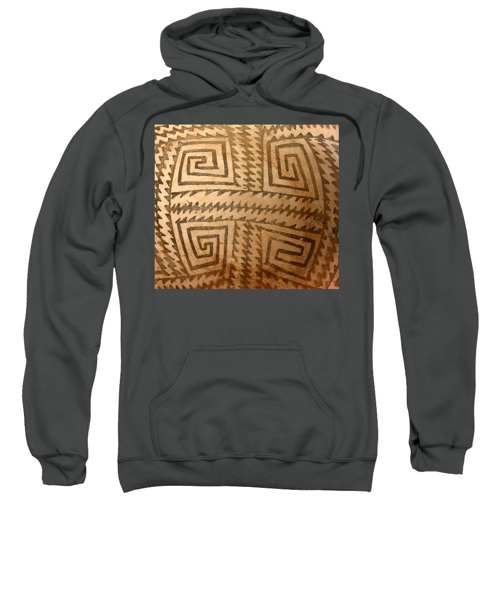 Ceramic Bowl Sweatshirt featuring the photograph Patterns Of The Old Ones by David Lee Thompson