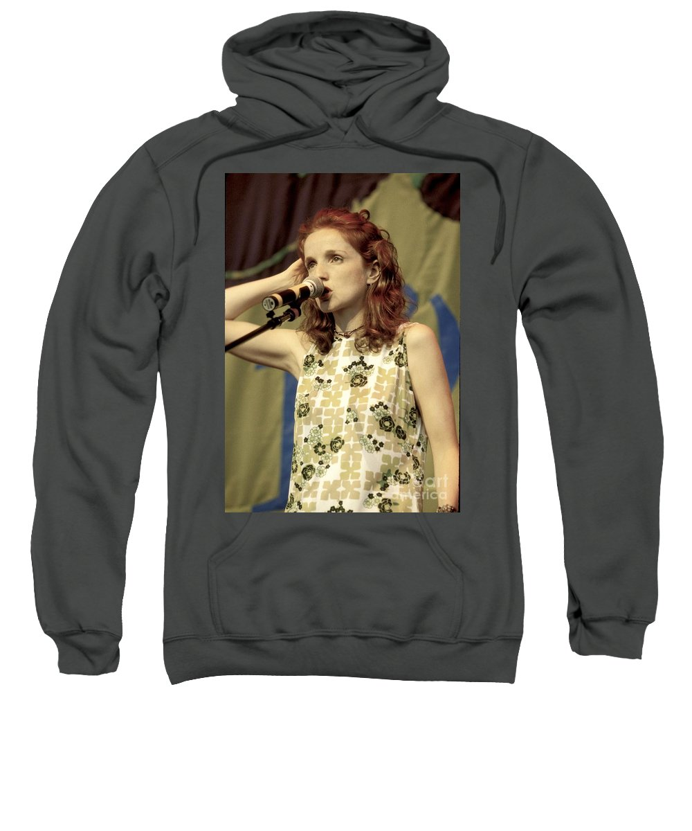 Folk Sweatshirt featuring the photograph Patty Griffith by Concert Photos