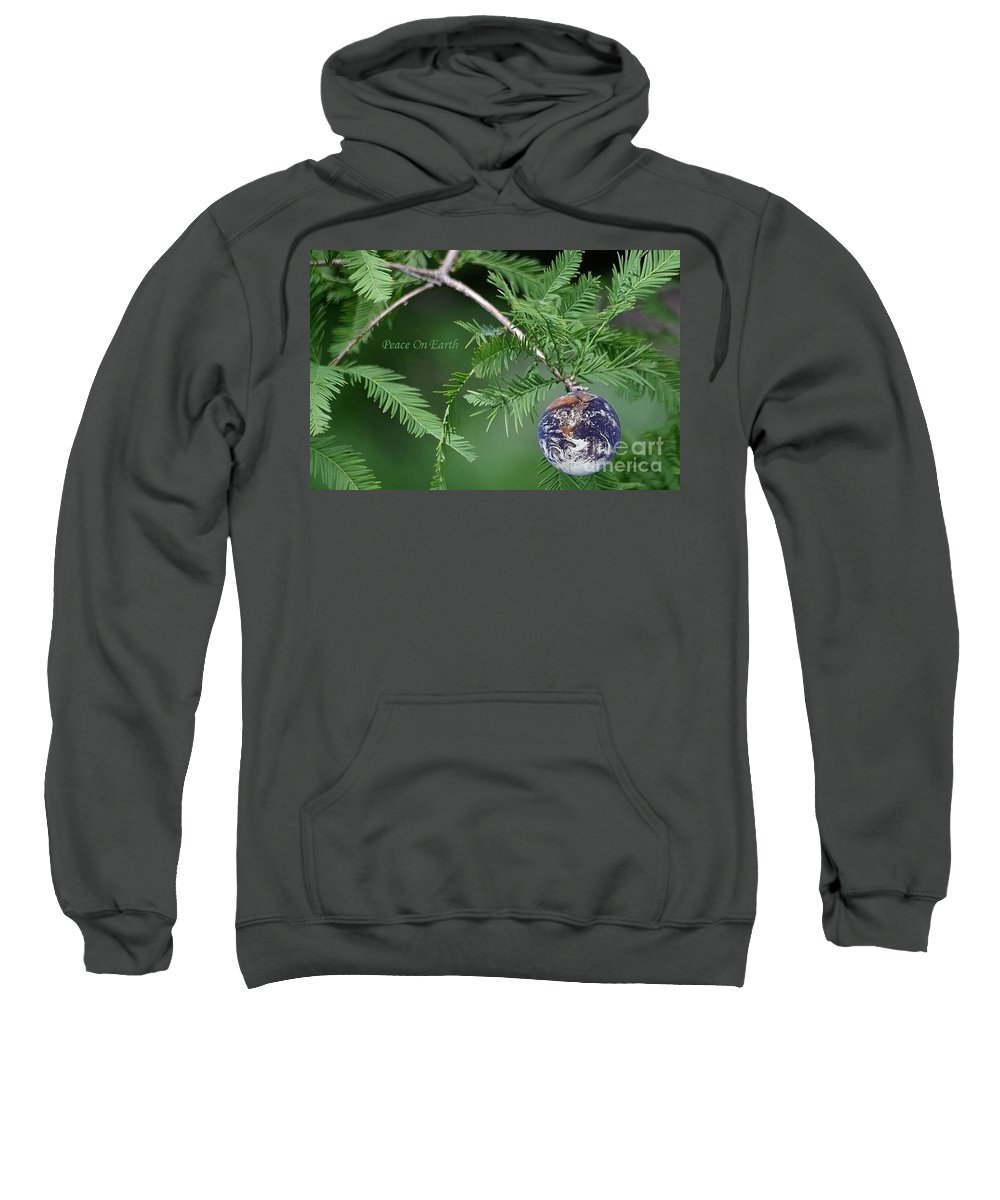 Earth Sweatshirt featuring the photograph Peace On Earth by Living Color Photography Lorraine Lynch