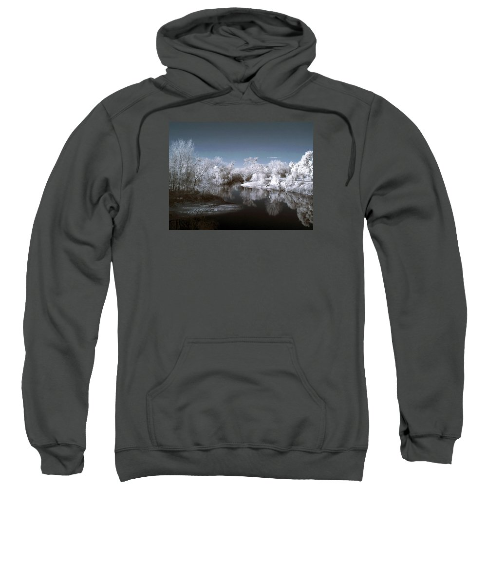 Near Sweatshirt featuring the photograph Peace River North Near Infrared Arcadia Florida Usa by Sally Rockefeller