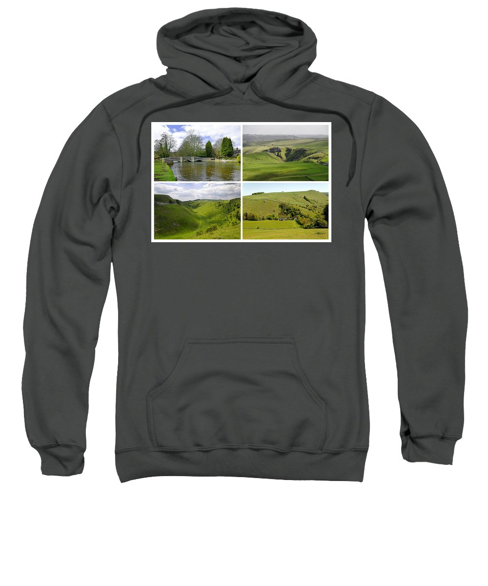 Europe Sweatshirt featuring the photograph Peak District Collage 01-plain by Rod Johnson