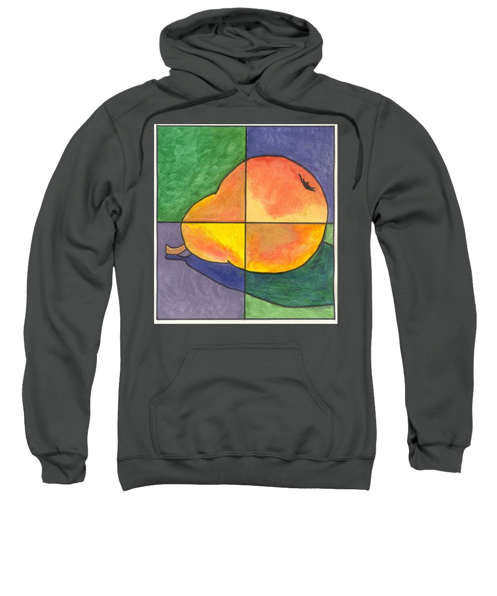 Pear Sweatshirt featuring the painting Pear II by Micah Guenther