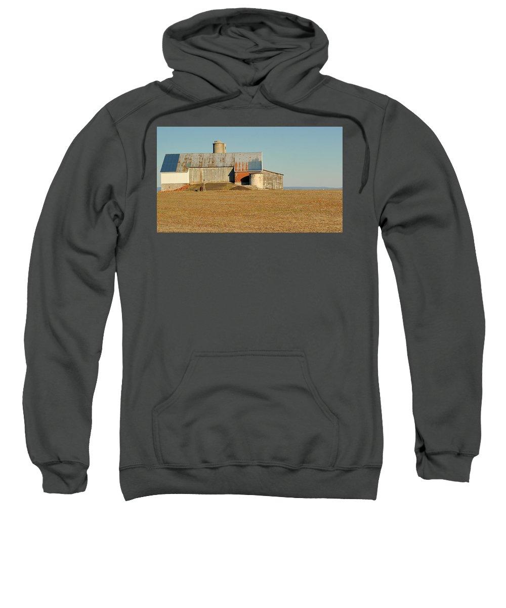 Barns Sweatshirt featuring the photograph Pennsylvania Barn by Steve Archbold