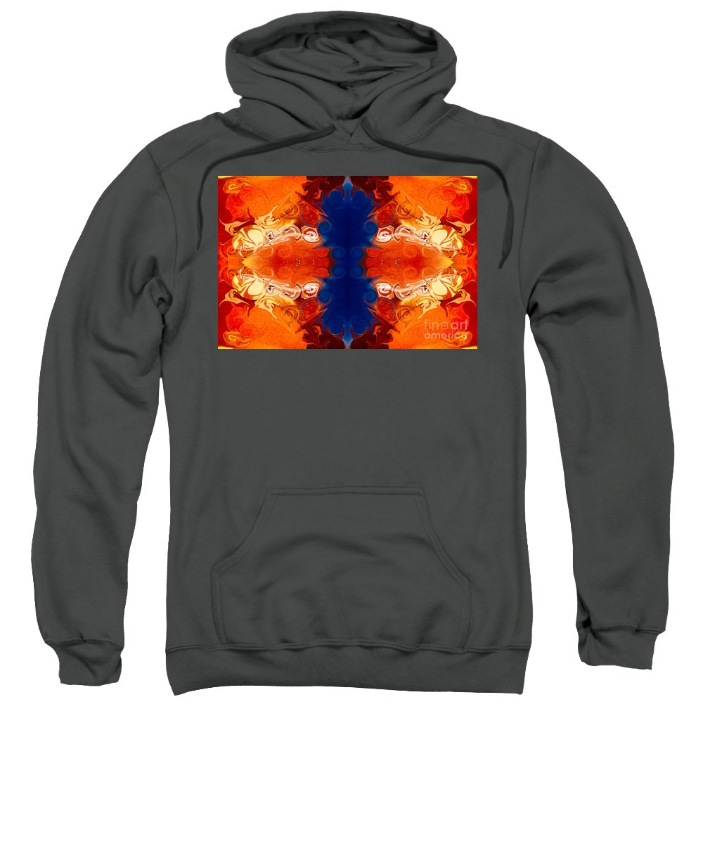 2x3 (4x6) Sweatshirt featuring the digital art Perfectly Balanced Philosophies Abstract Pattern Art By Omaste Witkowski by Omaste Witkowski