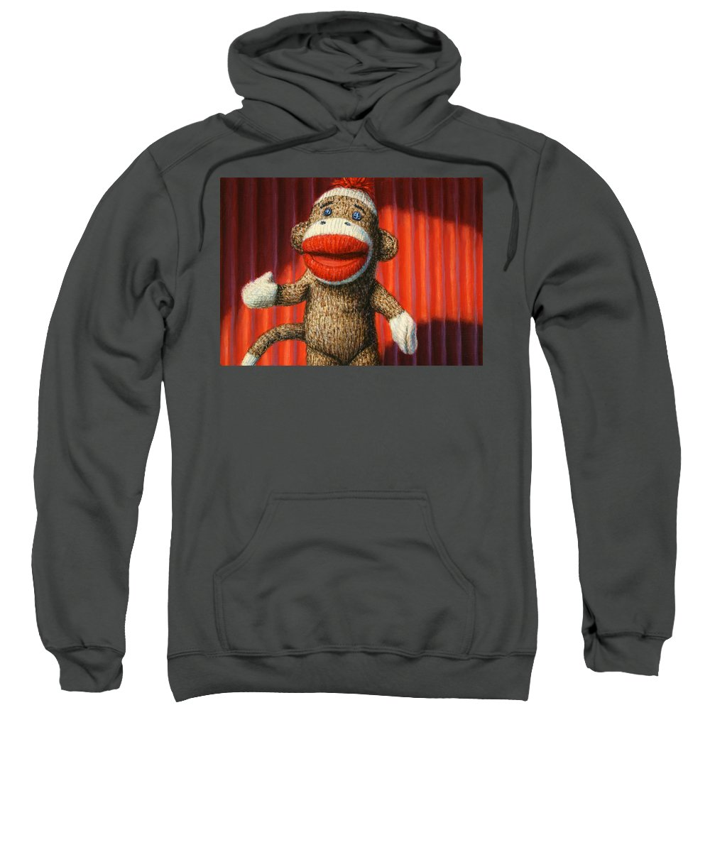 Sock Monkey Hooded Sweatshirts T-Shirts