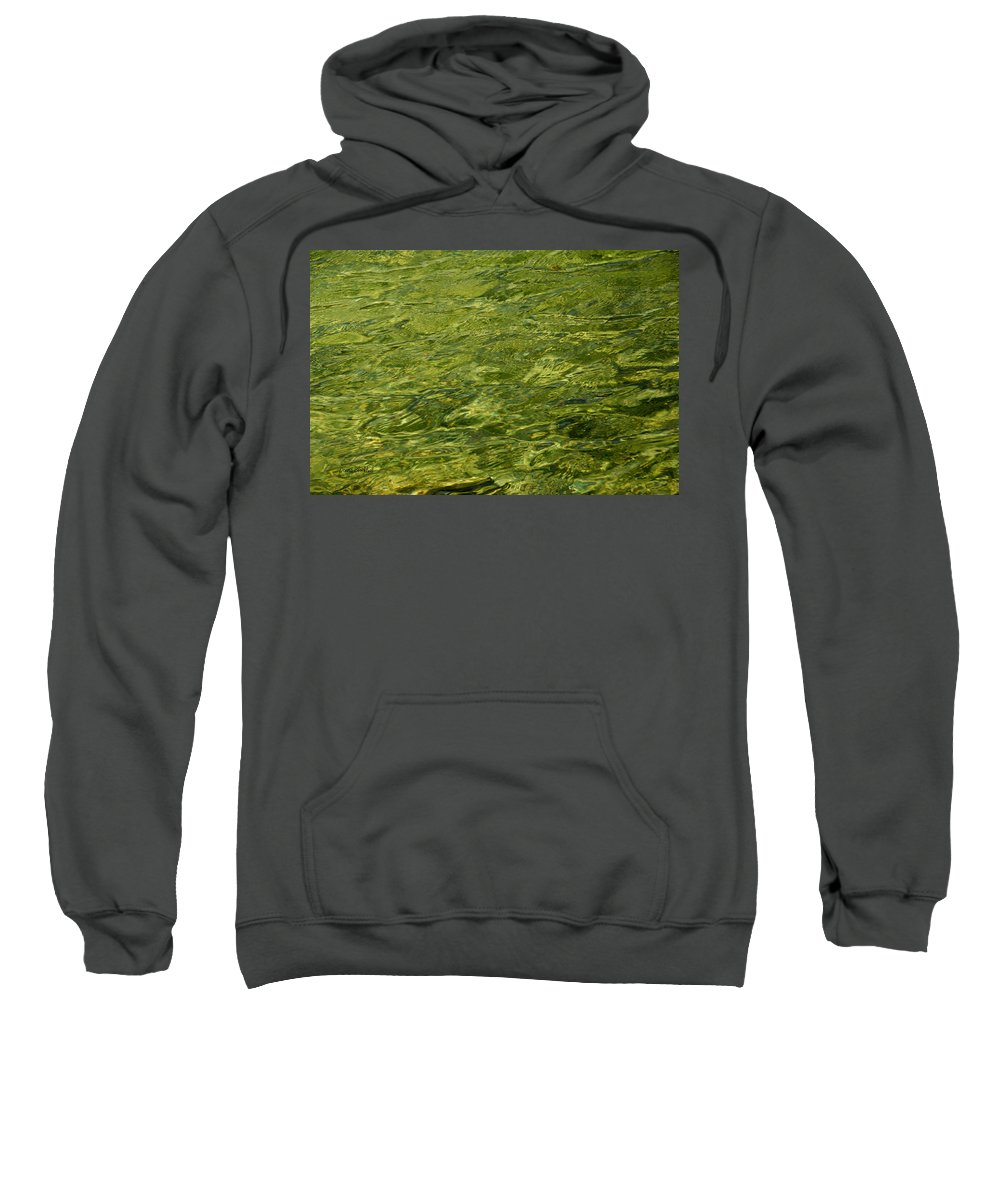 Water Sweatshirt featuring the photograph Peridot by Donna Blackhall