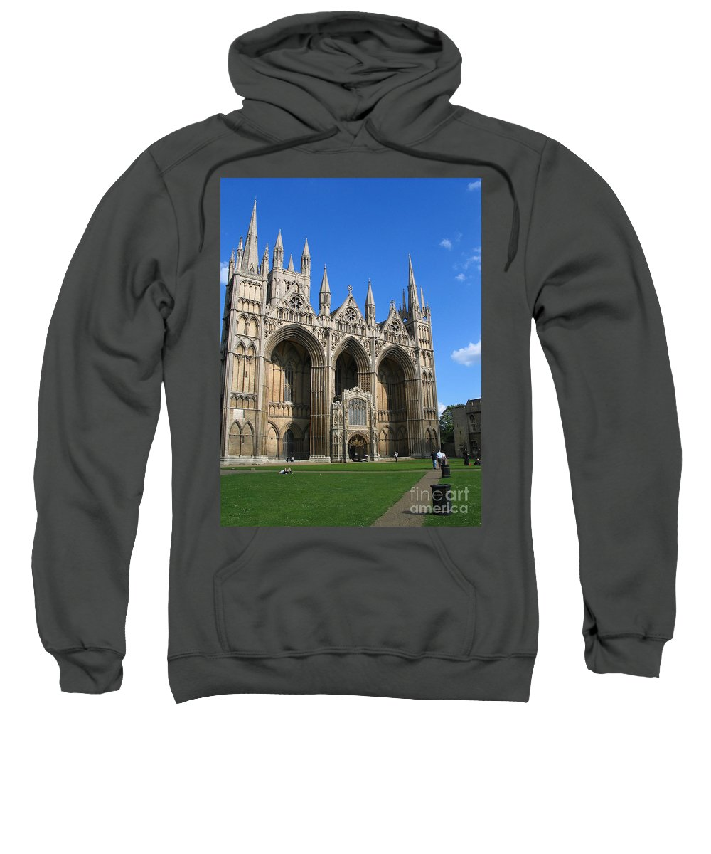 Peterborough Sweatshirt featuring the photograph Peterborough Cathedral by Jason O Watson