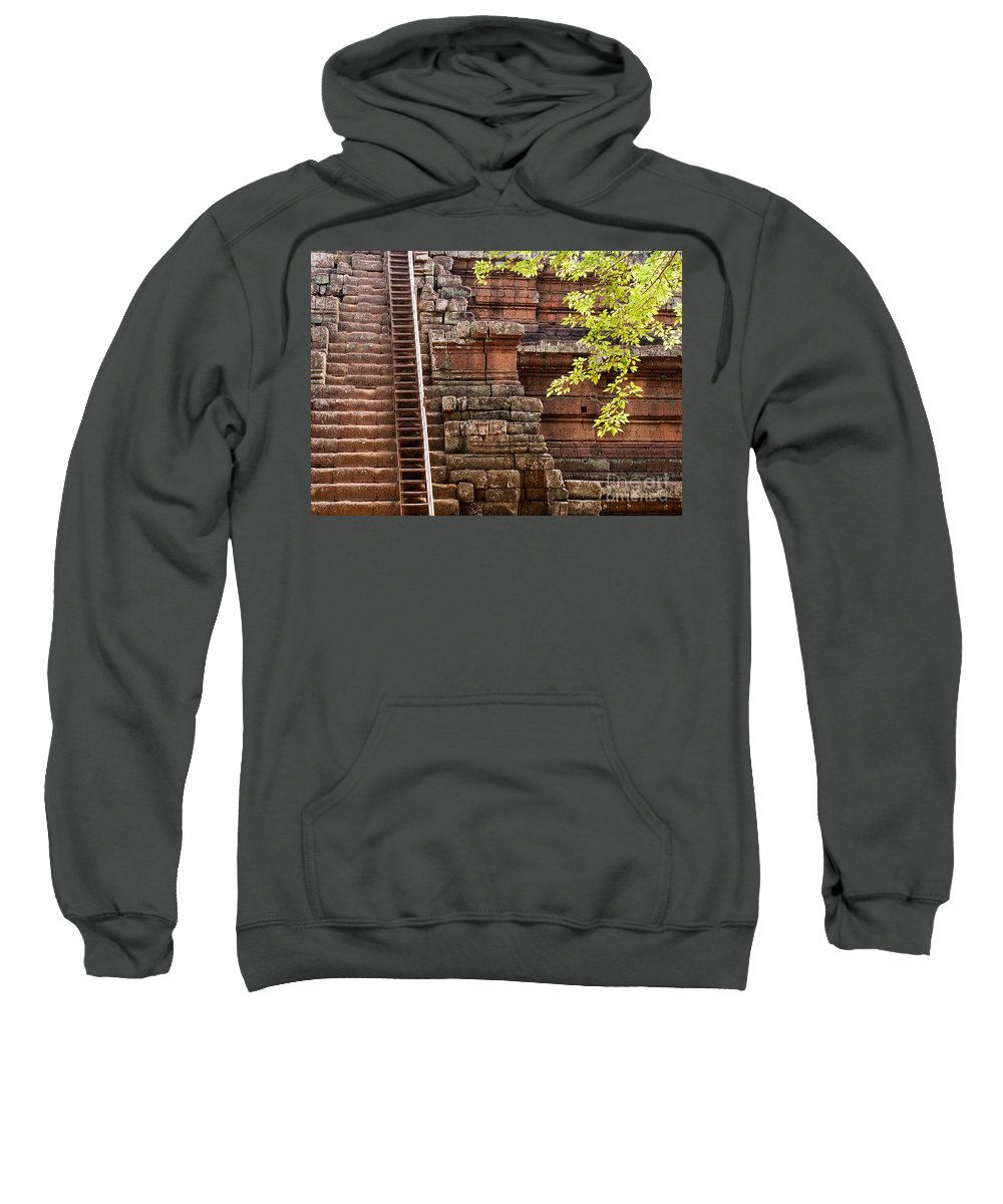 Phimeanakas Sweatshirt featuring the photograph Phimeanakas Temple Steps by Rick Piper Photography