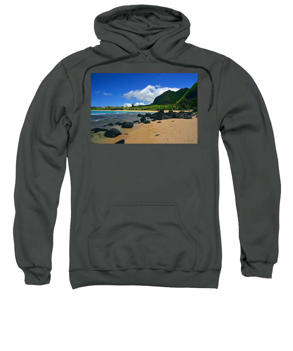 Hawaii Sweatshirt featuring the photograph Picture Perfect Haena Beach by Marie Hicks