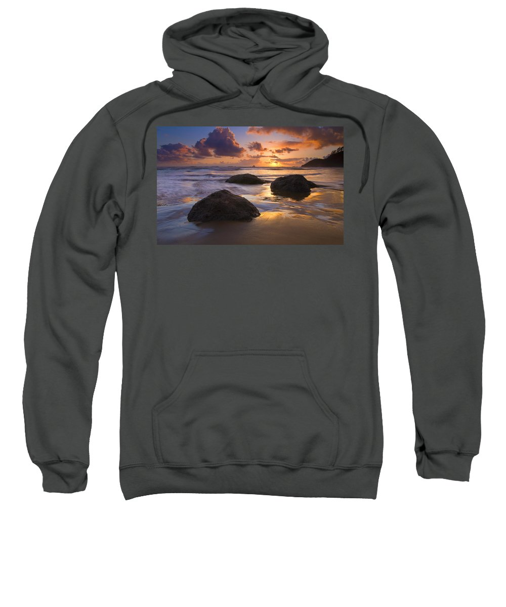 Sunset Sweatshirt featuring the photograph Pieces Of Eight by Mike Dawson