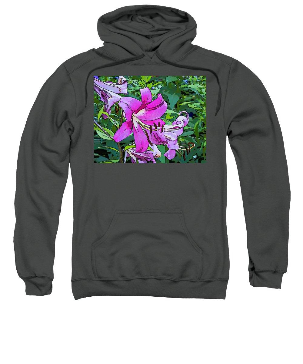 Steve Harrington Sweatshirt featuring the photograph Pink And Sassy...line Art by Steve Harrington
