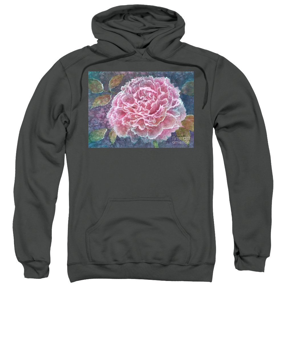Water Http://fineartamerica.com/images-medium/pink-beauty-barbara-jewell.jpg?timestamp=1338949785color Paintings Sweatshirt featuring the painting Pink Beauty by Barbara Jewell