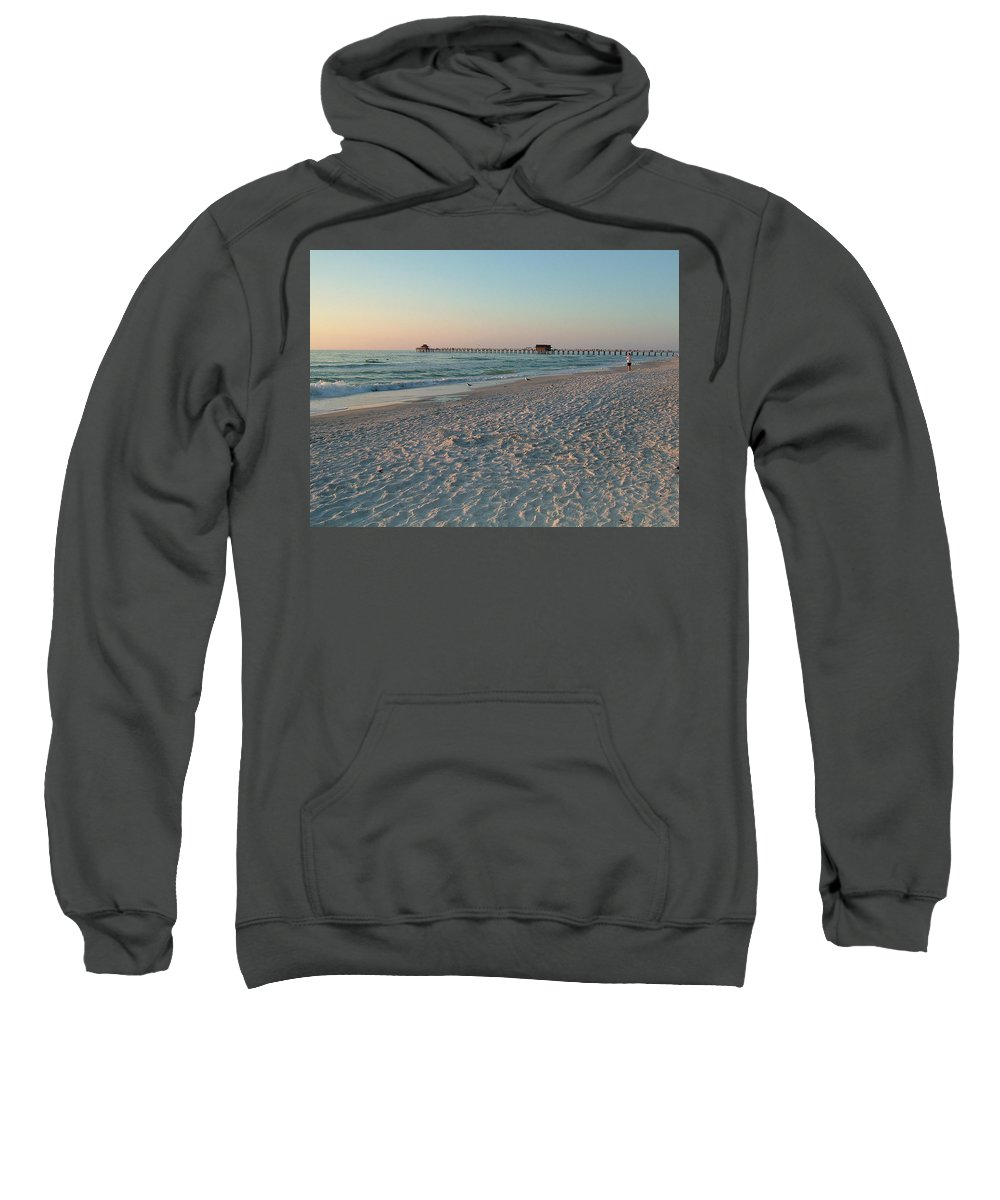Low Sun Sweatshirt featuring the photograph Pink Florida Sands by Susan Wyman