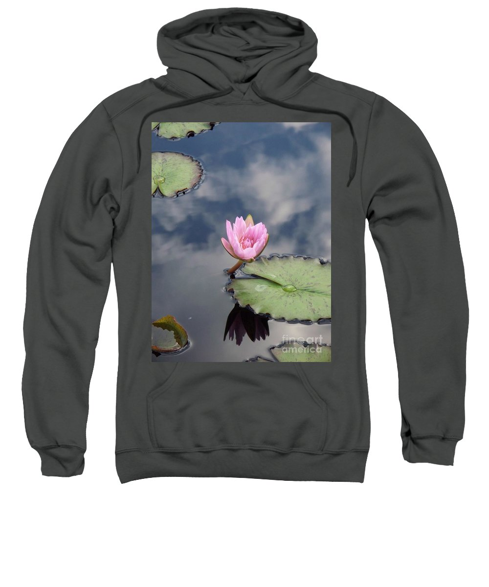 Water Lilies Sweatshirt featuring the photograph Pink Lily Monet by Eric Schiabor