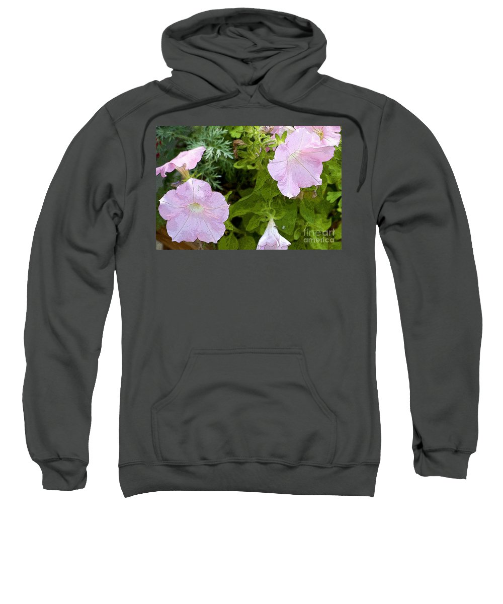 Bloom Sweatshirt featuring the photograph Pink On Pink by Flamingo Graphix John Ellis