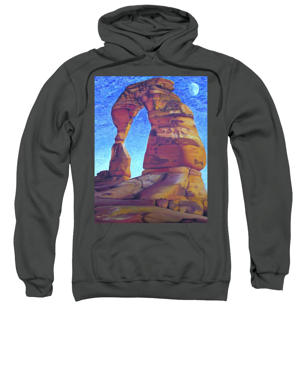 Moab Sweatshirt featuring the painting Place Of Power by Joshua Morton