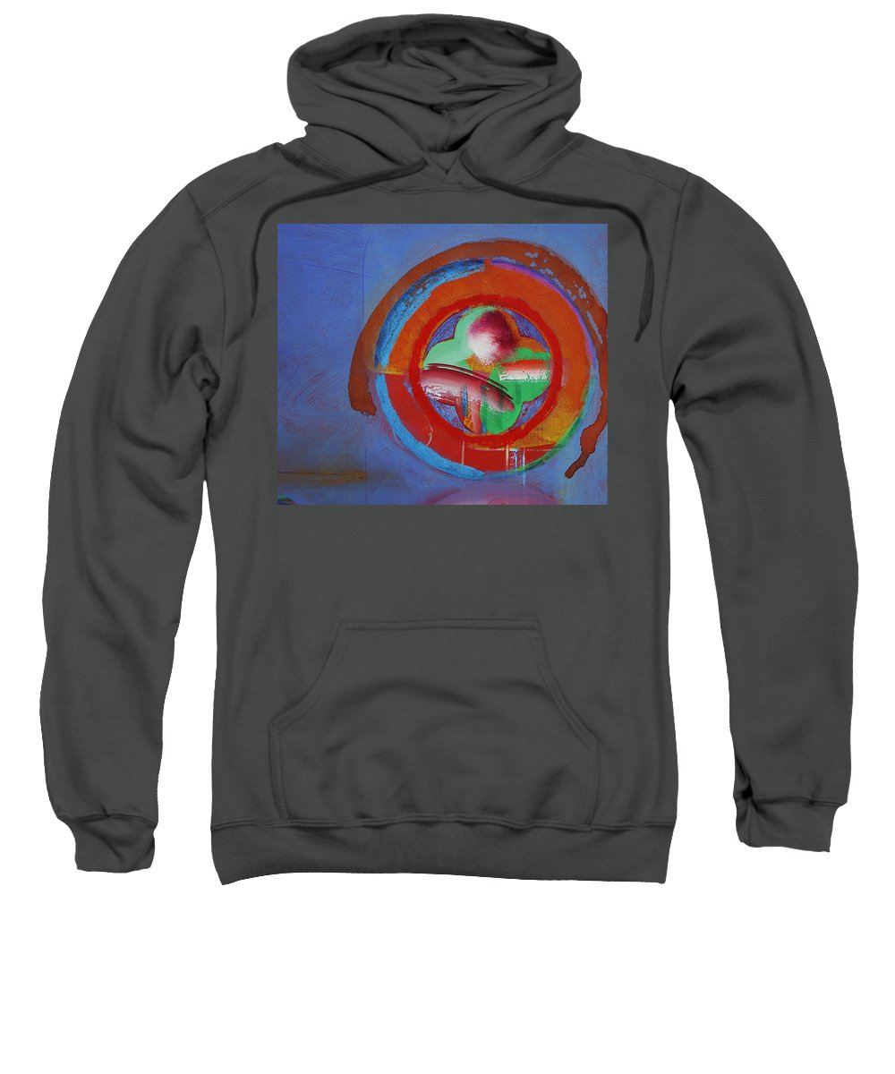 Planet Earth Art Sweatshirt featuring the painting Planet Earth by Charles Stuart