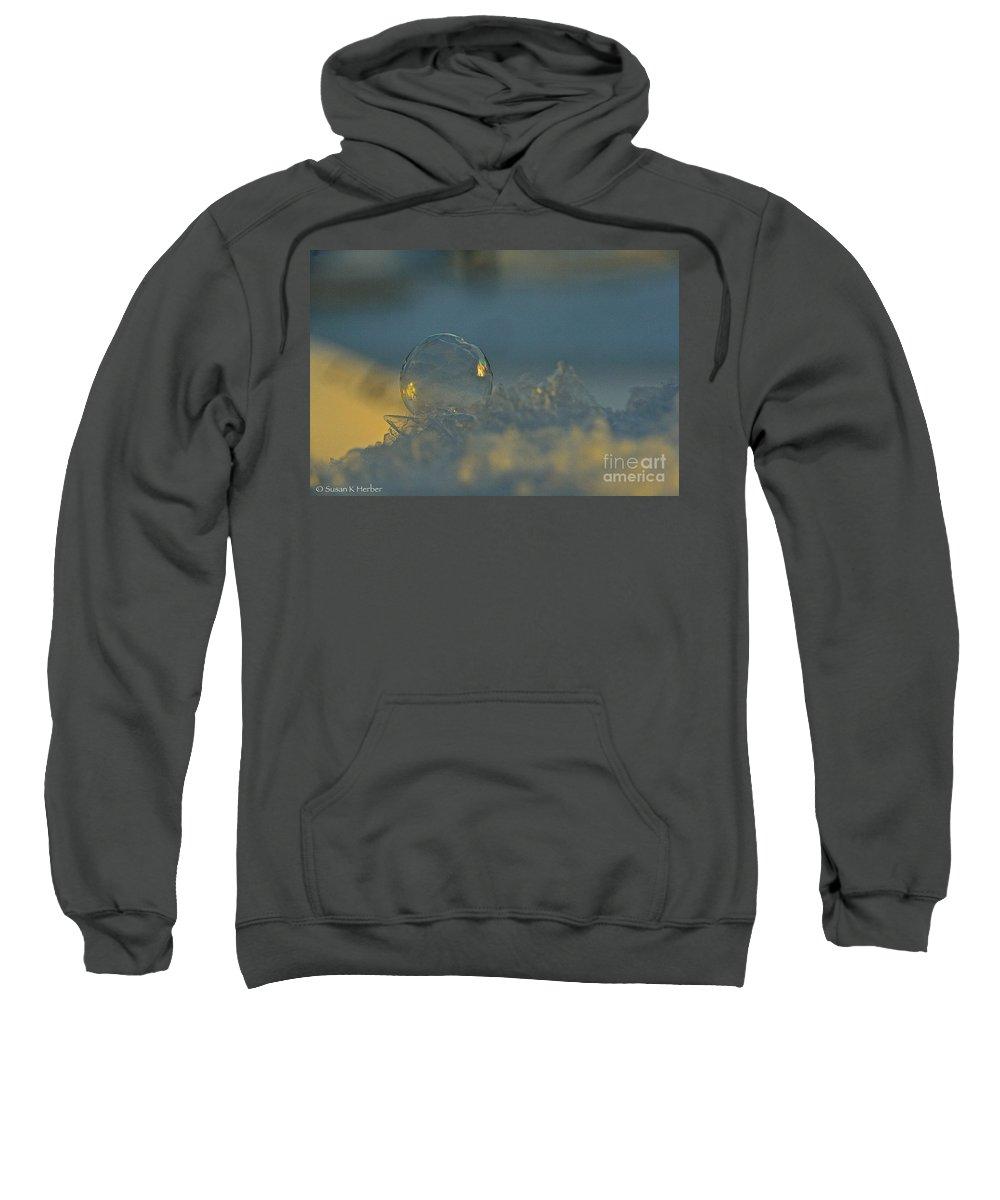 Outdoors Sweatshirt featuring the photograph Polar Vortex Sunrise by Susan Herber