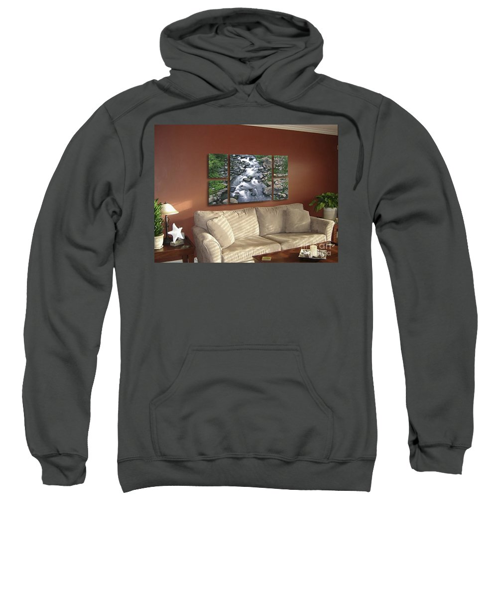 Creek Sweatshirt featuring the photograph Polyptych Display Sample 02 by Peter Piatt
