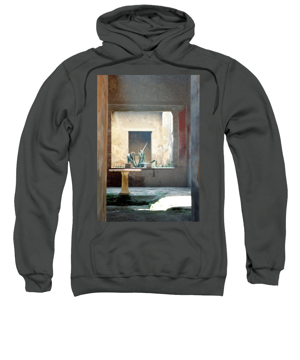 Pompeii Sweatshirt featuring the photograph Pompeii Courtyard by Marna Edwards Flavell