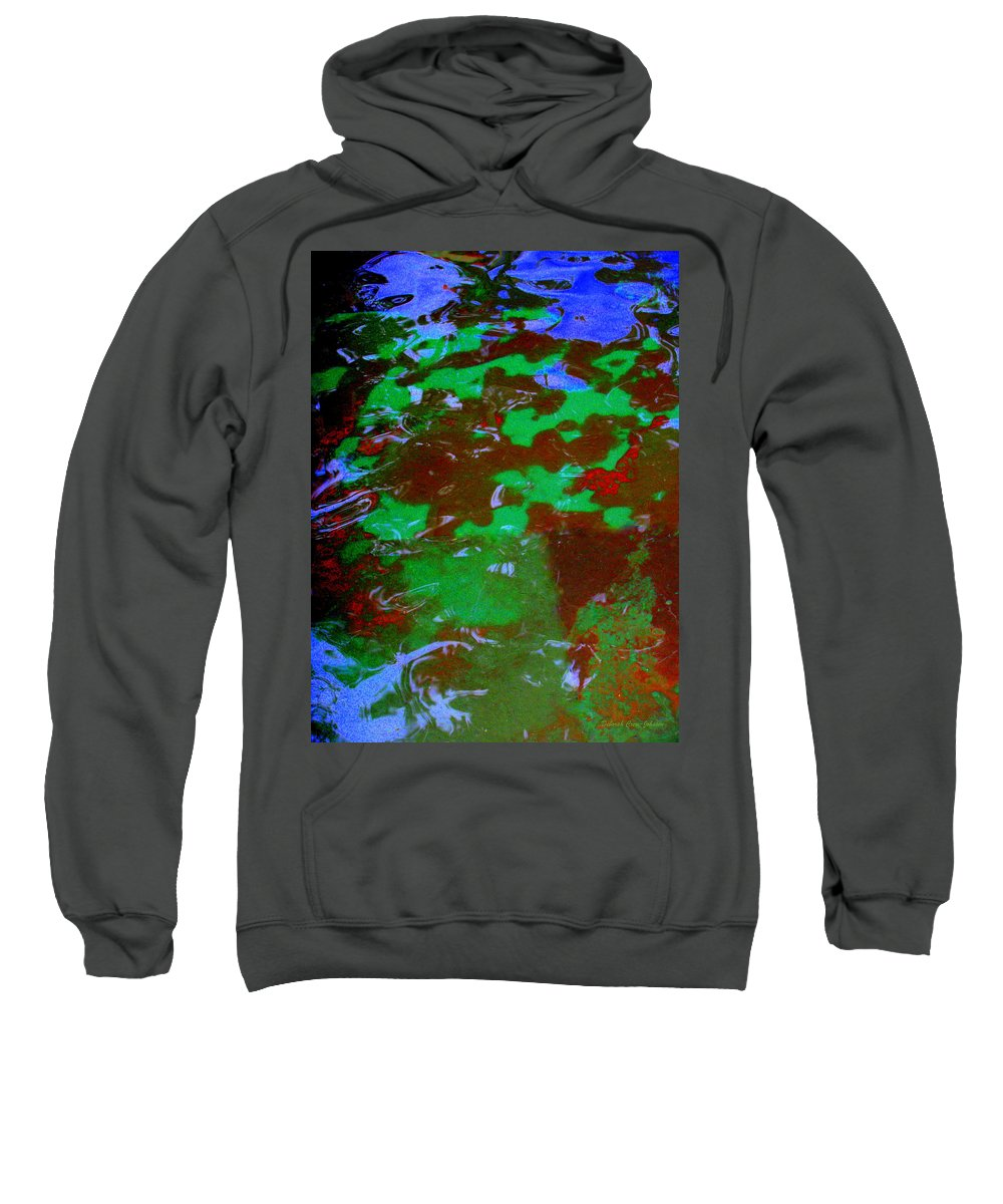Pool Sweatshirt featuring the photograph Poolwater Abstract by Deborah Crew-Johnson