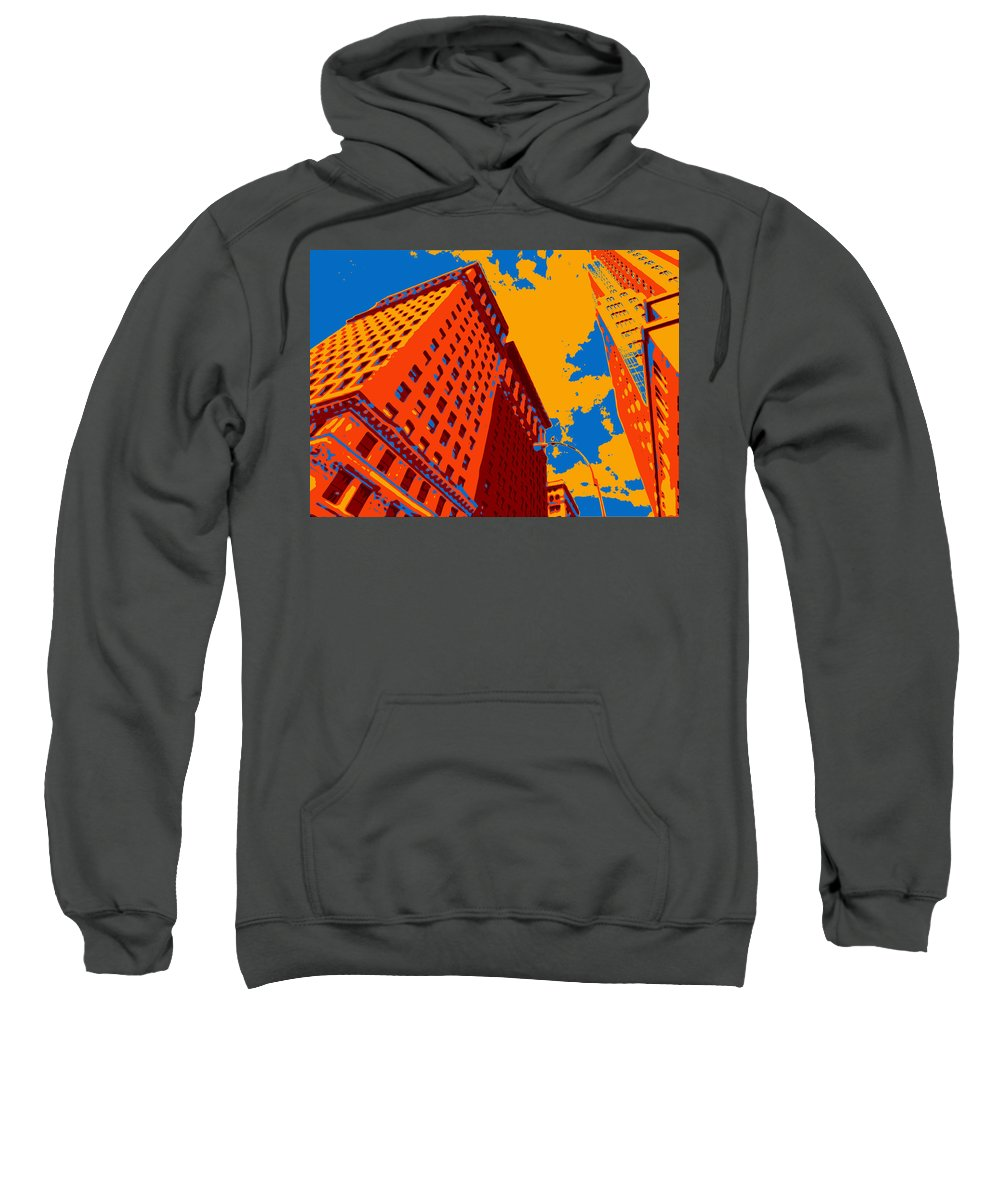 Nyc Sweatshirt featuring the digital art Pop Art Nyc by David G Paul