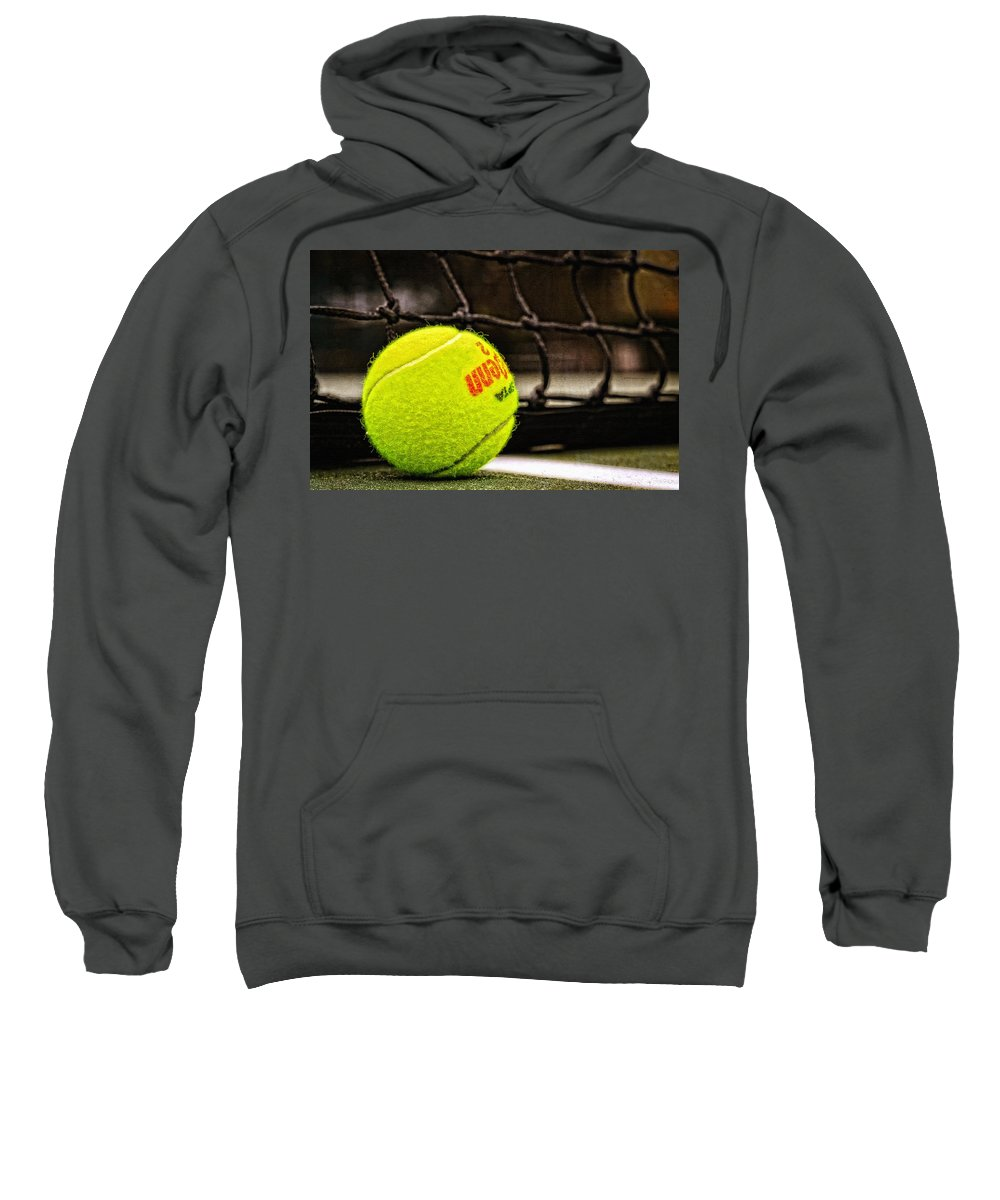 Tennis Sweatshirt featuring the photograph Practice - Tennis Ball By William Patrick And Sharon Cummings by Sharon Cummings
