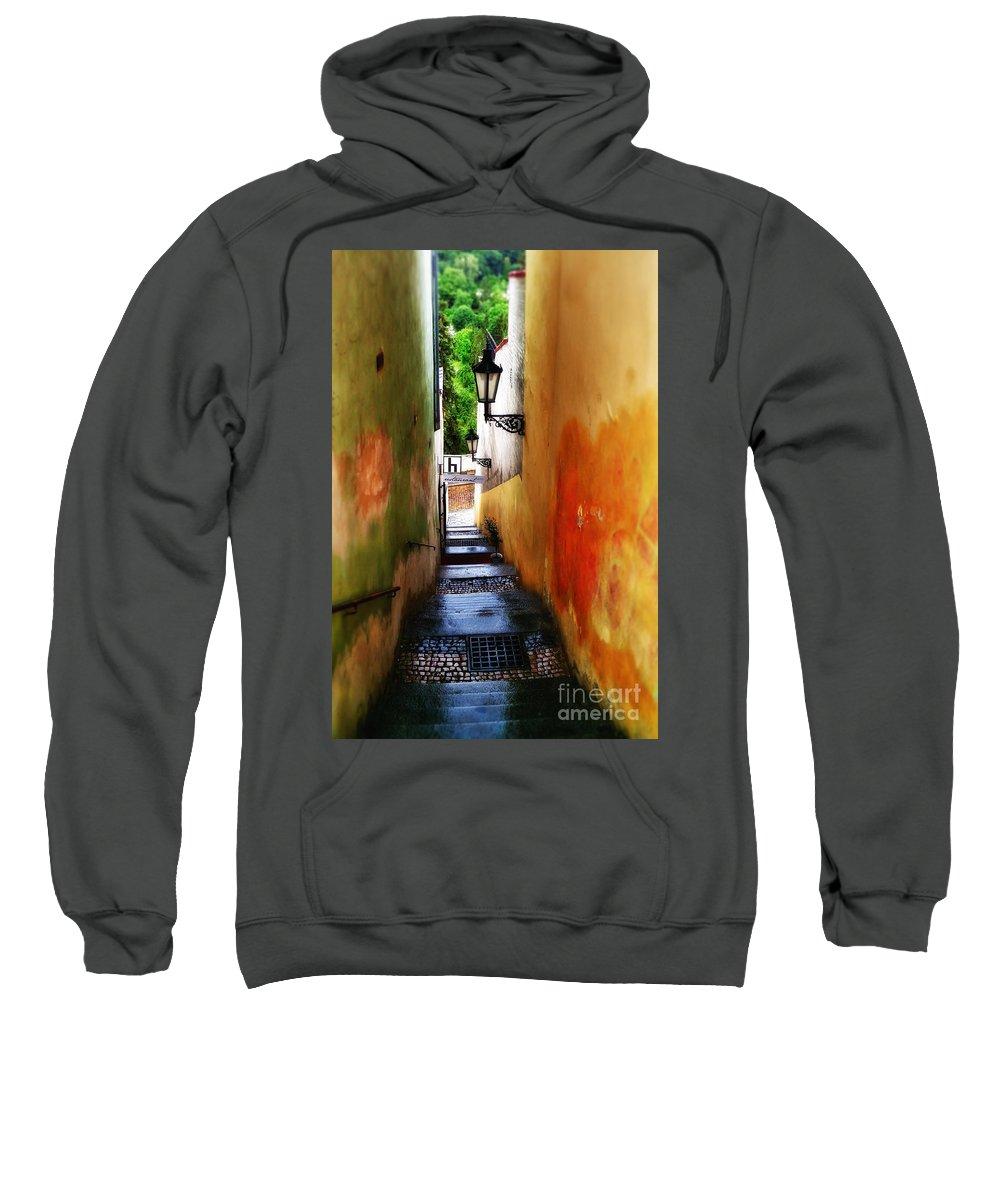 Prague Art Sweatshirt featuring the photograph Prague - Street by Justyna JBJart
