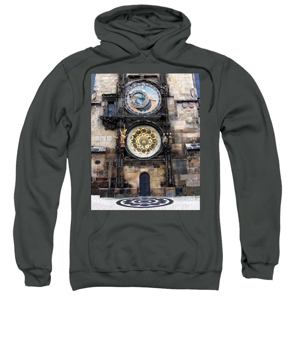 Astrology Sweatshirt featuring the photograph Prague Astronomical Clock by Tom Conway