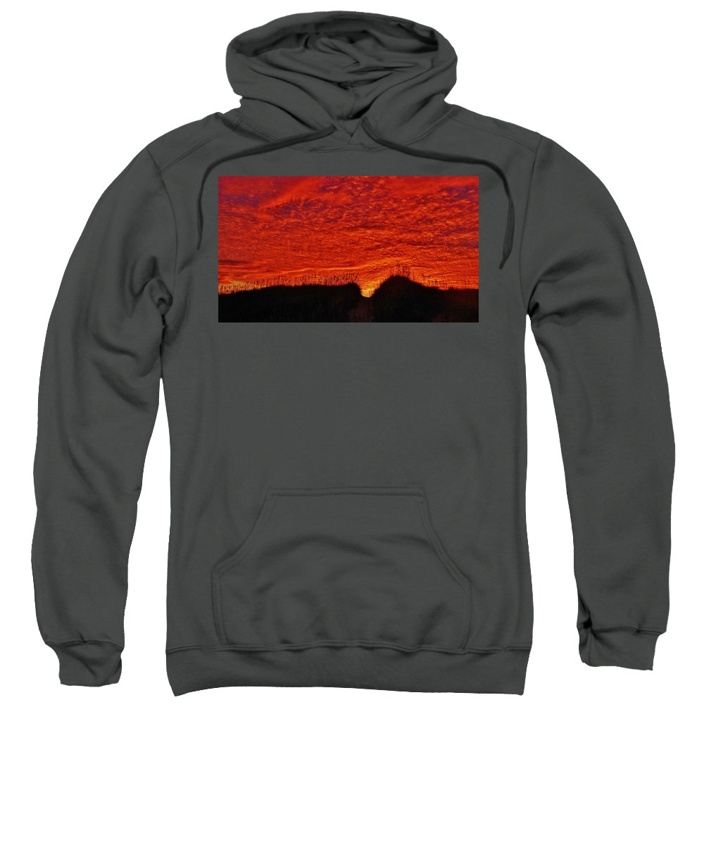 Mark Lemmon Cape Hatteras Nc The Outer Banks Photographer Subjects From Sunrise Sweatshirt featuring the photograph Predawn Dune Color Explosion 5 10/30 by Mark Lemmon