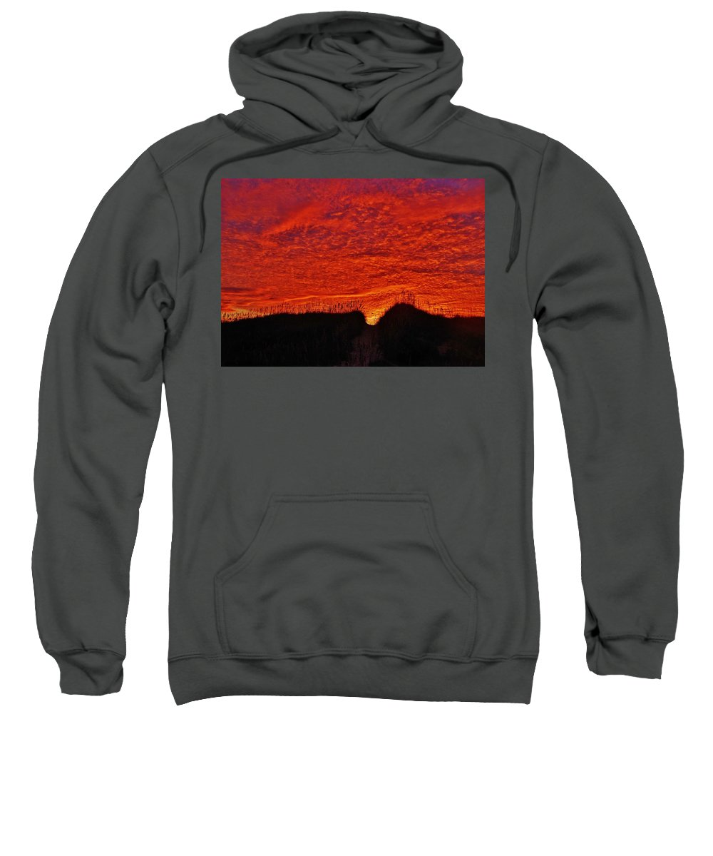 Mark Lemmon Cape Hatteras Nc The Outer Banks Photographer Subjects From Sunrise Sweatshirt featuring the photograph Predawn Dune Perfection 4 10/30 by Mark Lemmon