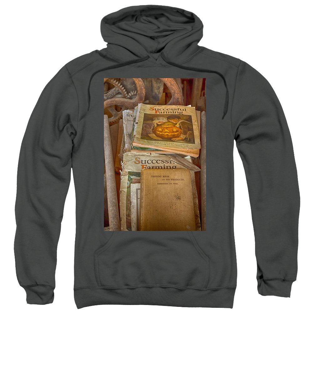 Farm Magazine Sweatshirt featuring the photograph Preferred Reading Material by Jeff Folger