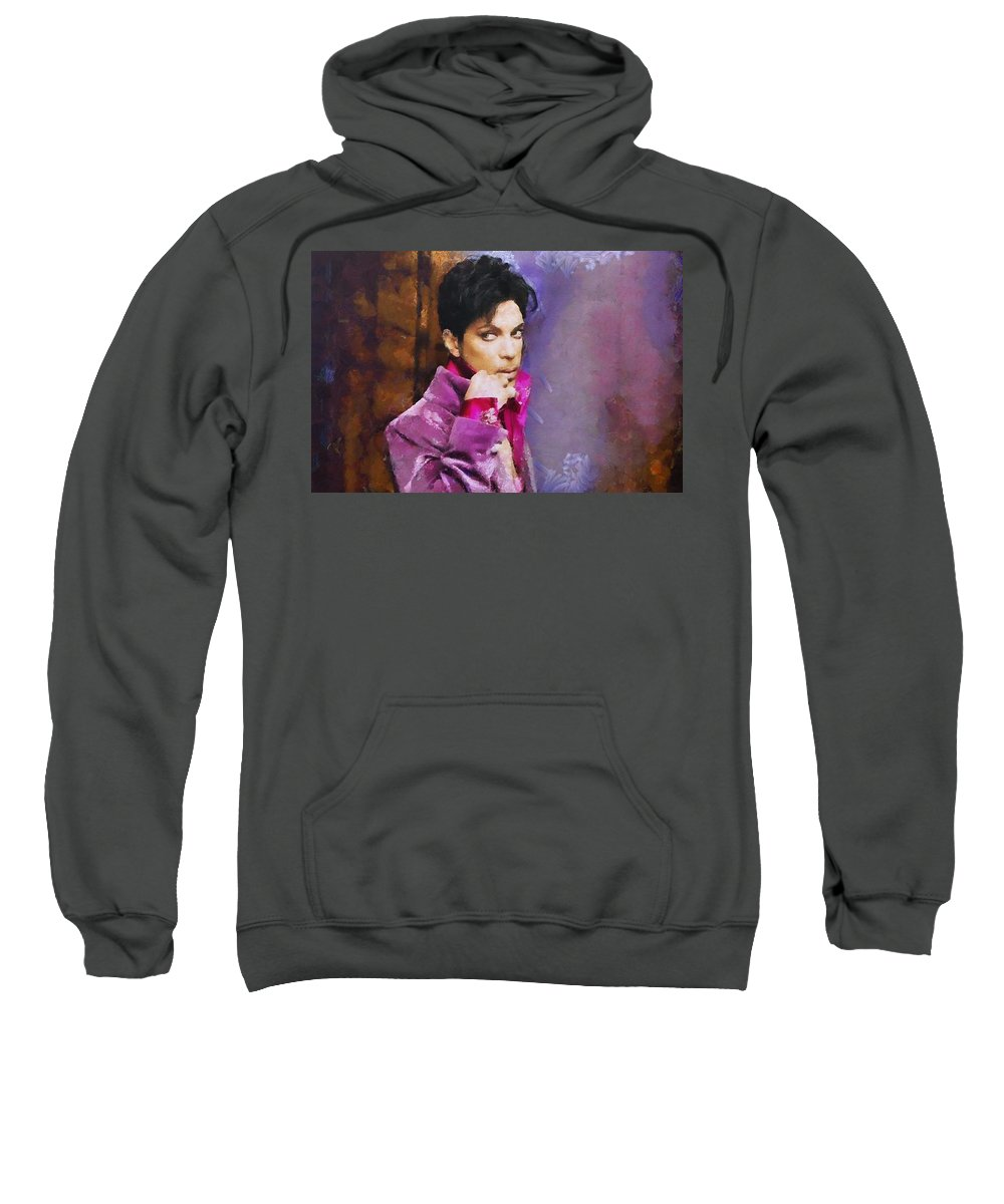 Prince Sweatshirt featuring the painting Prince by Janice MacLellan