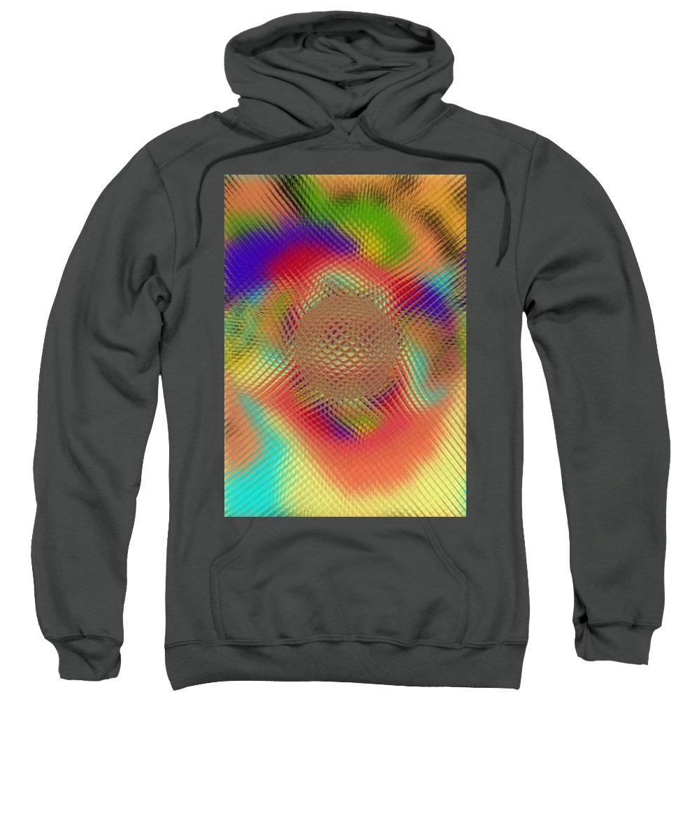 Abstract Sweatshirt featuring the digital art Probing Orb by Pharris Art