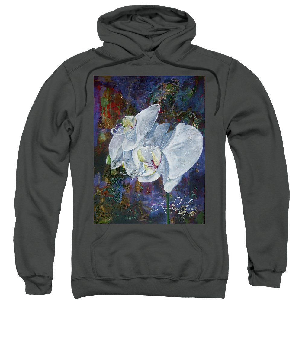 Orchids Sweatshirt featuring the painting Profile by Laura Pierre-Louis