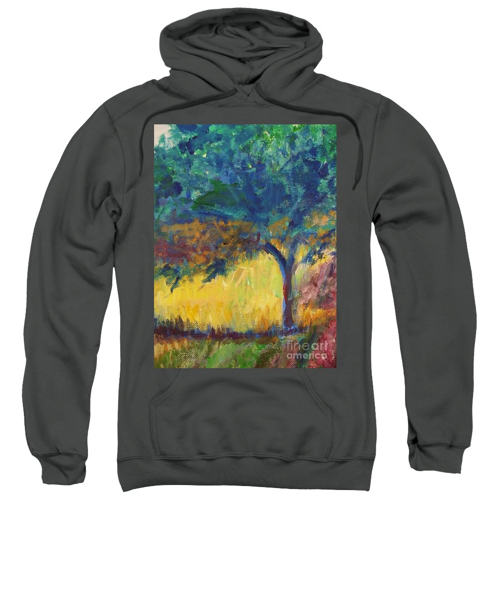 Provence Sweatshirt featuring the painting Provence Tree by Eric Schiabor