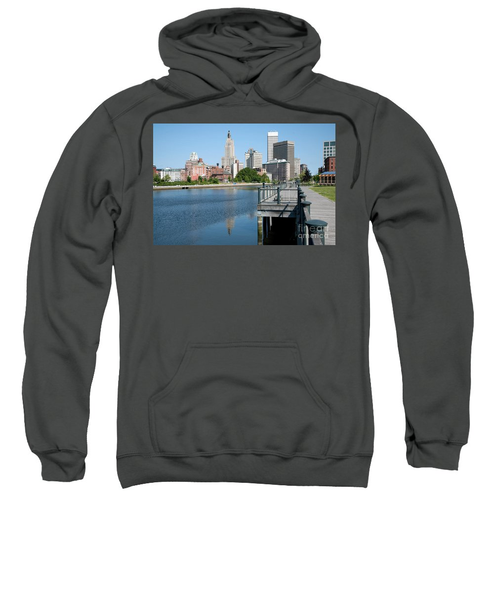 Narragansett Sweatshirt featuring the photograph Providence Skyline And Riverfront by Bill Cobb