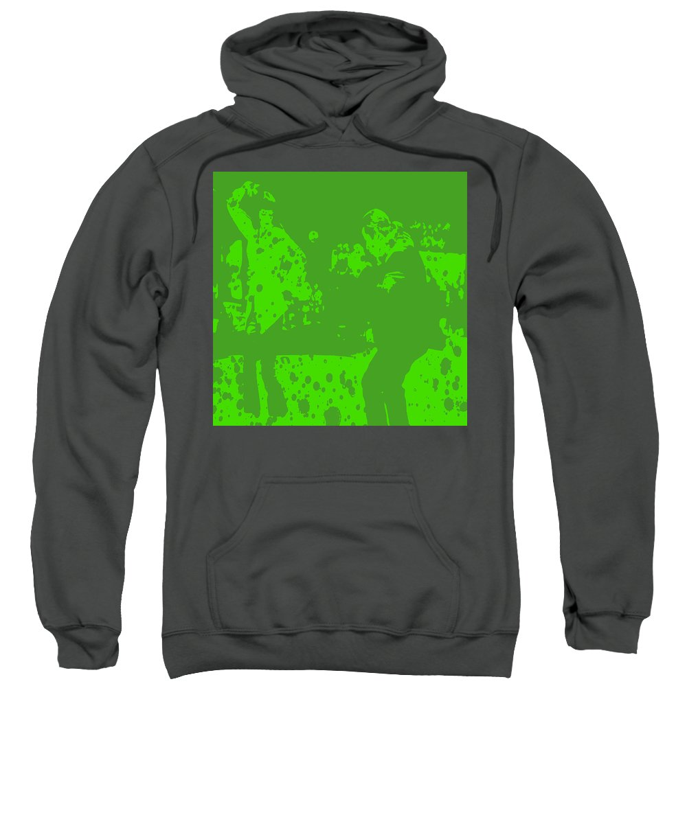 Pulp Fiction Sweatshirt featuring the digital art Pulp Fiction Dance Green by Brian Reaves