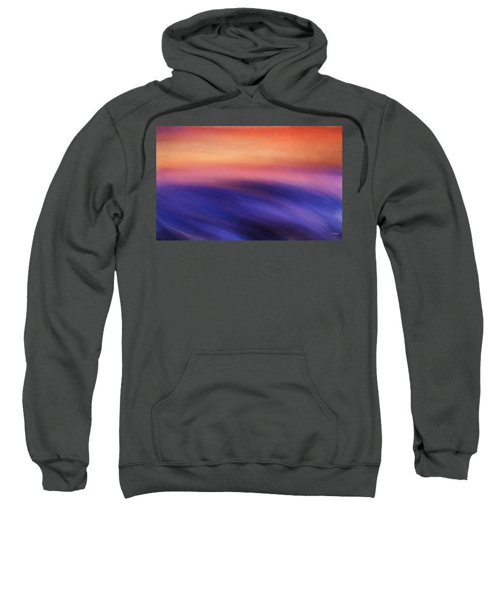 Seascapes Abstract Sweatshirt featuring the digital art Purple Beauty by Lourry Legarde