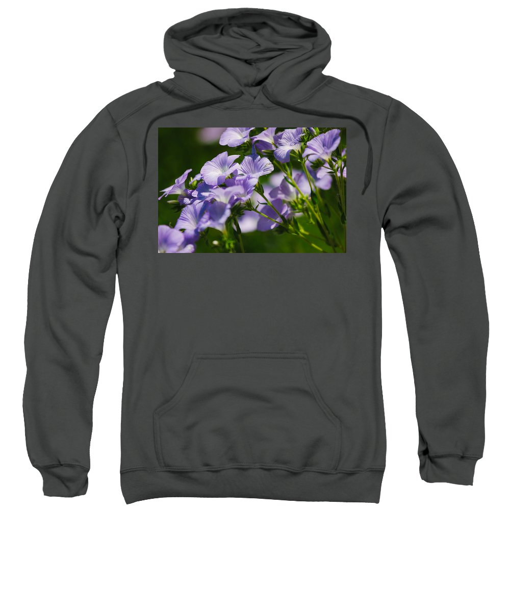 Flowers Sweatshirt featuring the photograph Purple Flowers by Pati Photography