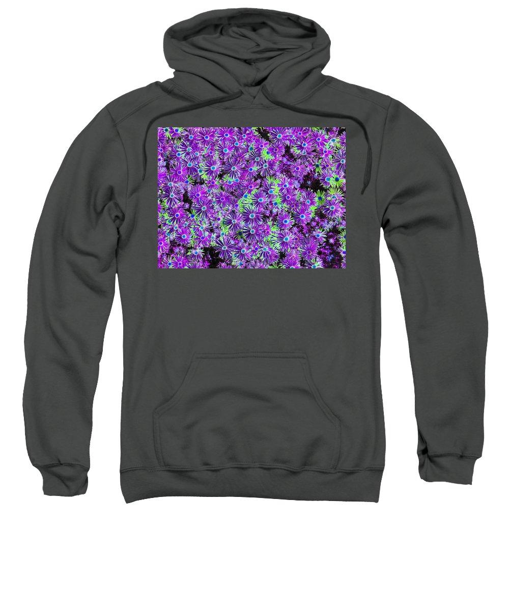 Flower Sweatshirt featuring the photograph Purplish Posies 01 - Photopower 2933 by Pamela Critchlow