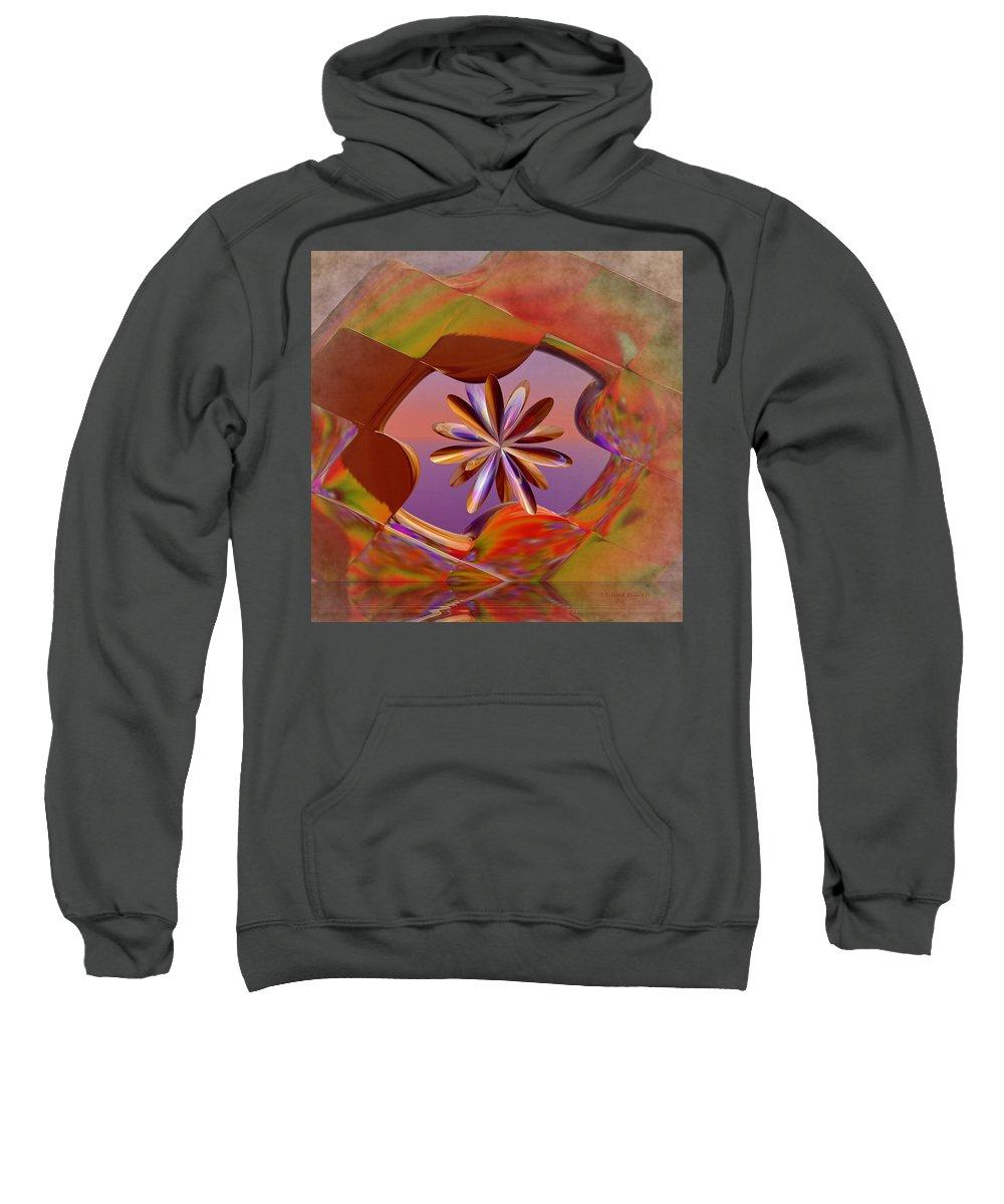 Incendia Sweatshirt featuring the digital art Puzzle Of Life by Deborah Benoit