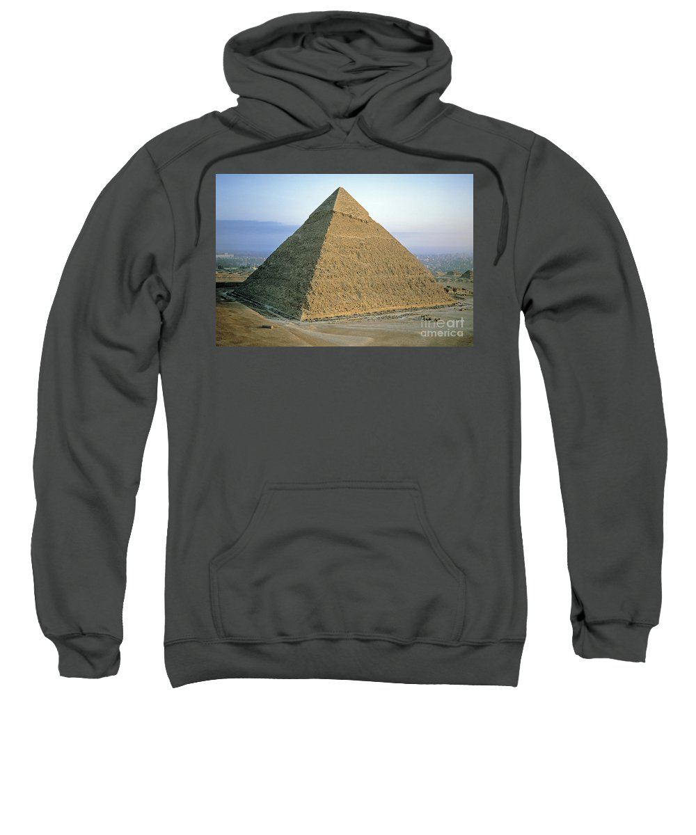 Africa Sweatshirt featuring the photograph Pyramid Of Khafre by Adam Sylvester