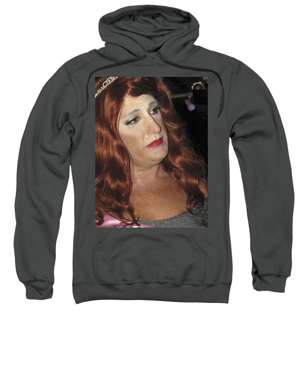 Gay Sweatshirt featuring the photograph Portrait Of A Fire Island Queen by Bob Slitzan