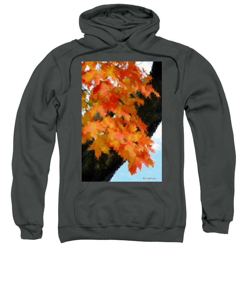 Autumn Sweatshirt featuring the painting Quick Take On Autumn by RC DeWinter