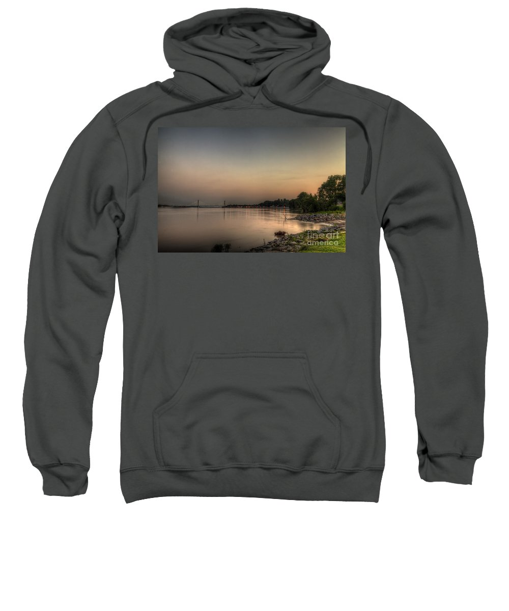 2014 Sweatshirt featuring the photograph Quite Evening by Larry Braun