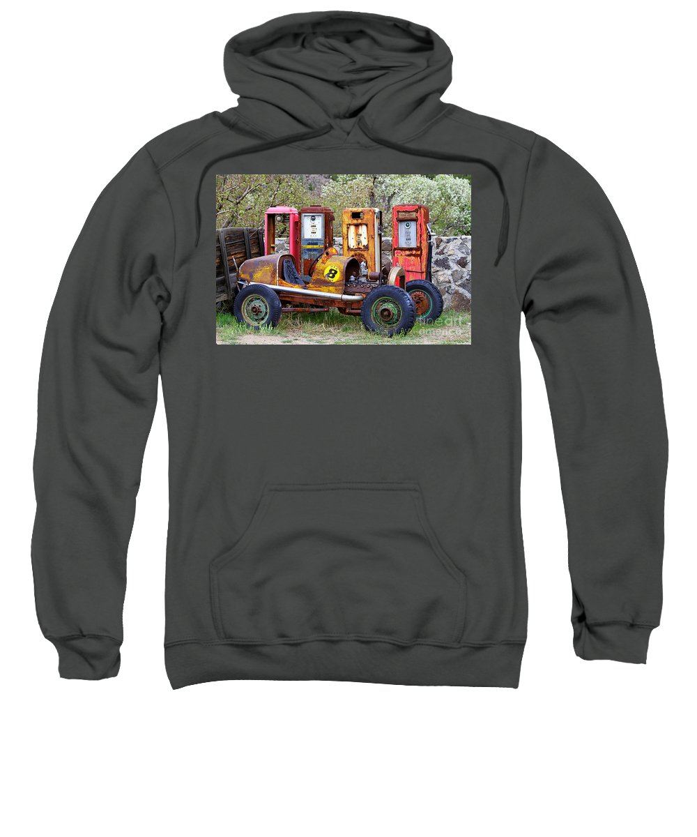 Race Car Sweatshirt featuring the photograph Race Car Final Pit Stop by Catherine Sherman
