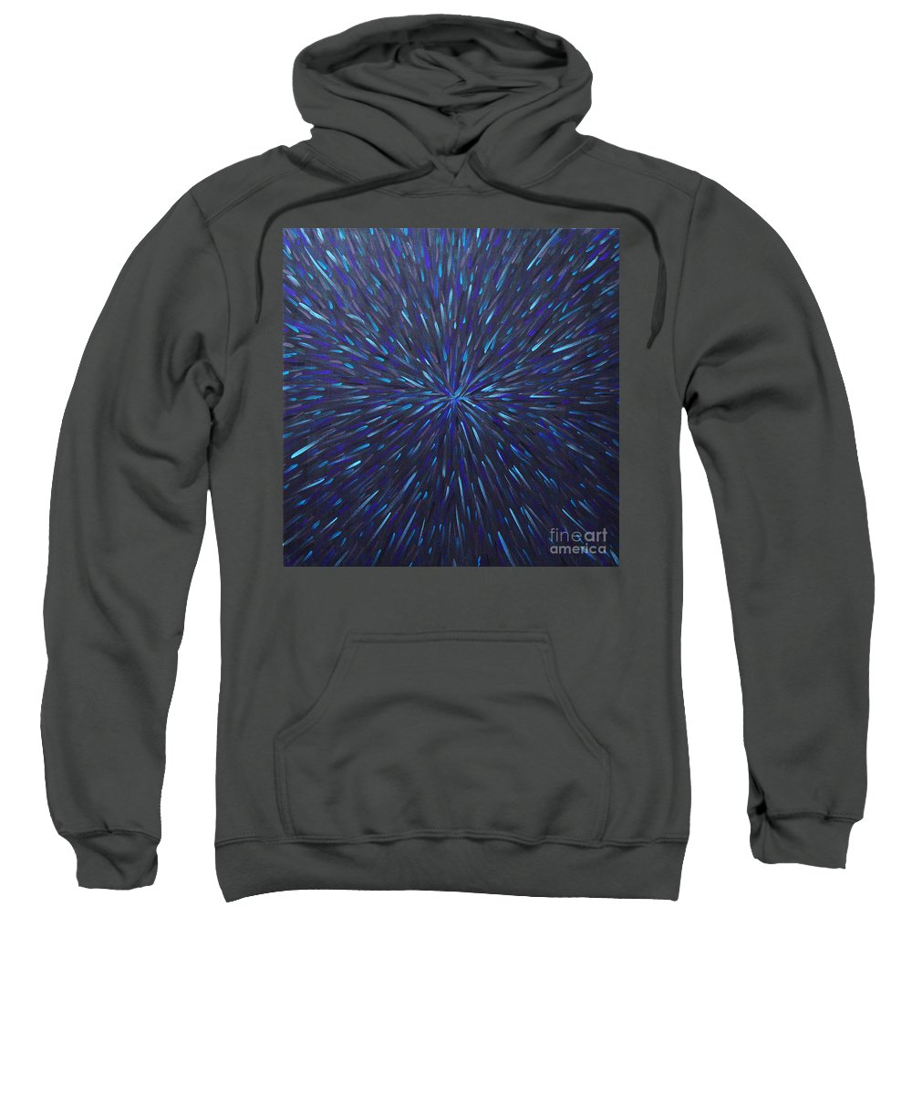 Abstract Sweatshirt featuring the painting Radiation Grey by Dean Triolo